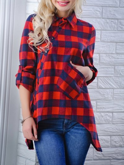 Casual Polyester Blouses & Shirt