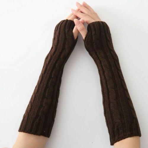 Women Winter Wrist Arm Knitted Long Fingerless Gloves Mittens Hand Warmer New