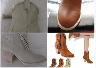 Brown Artificial Nubuck Chunky Heel Spring/Fall Rivet Daily Boots