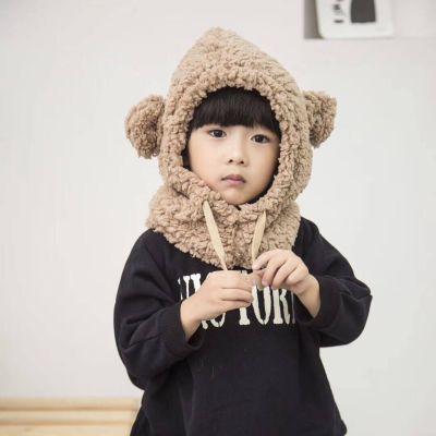 Baby Hat Winter Scarf Lambskin Children Earmuffs