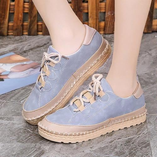 Women Flocking Sneakers Casual Comfort Lace Up Shoes