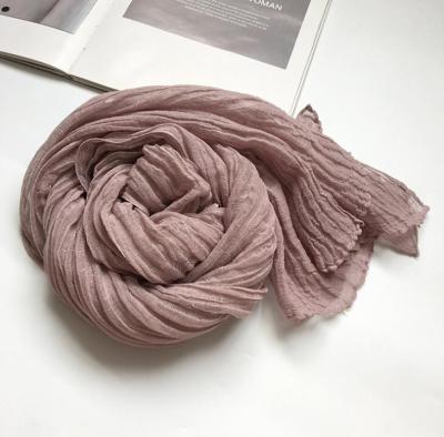 60x230cm New Arrival Soft Solid Color Women 100% Linen Scarf Summer Travel Sunscreen Long Shawl Elegant Hijab Women Foulard
