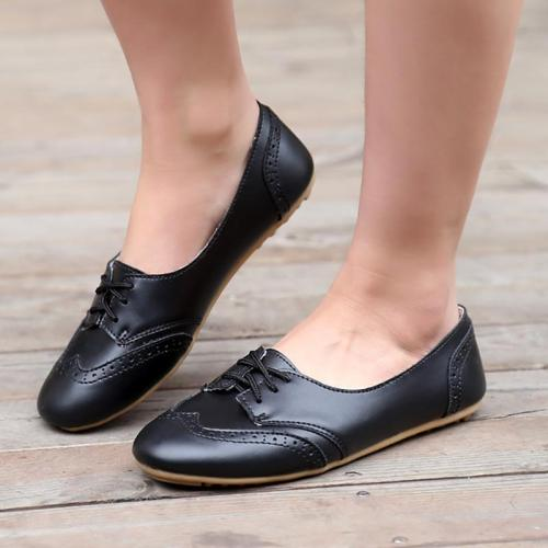Women Bullock Flat Loafers Casual Comfort Round Toe Slip On Shoes