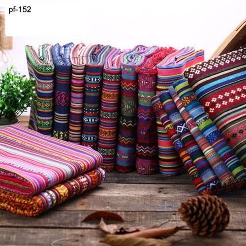 sofa cover ethnic fabric DIY bag curtain cotton linen fabrics textile for patchwork materials cloth fabric tissu