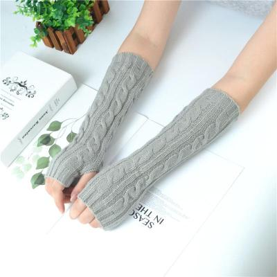 Women Girls Arm Gloves Long Half Knitted Arm Sleeves