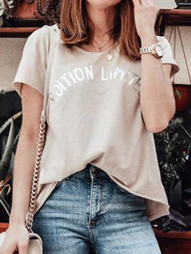Women Casual Printing Tops Tunic T Shirt