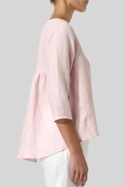 High Low 3/4 Length Sleeves  T-shirts