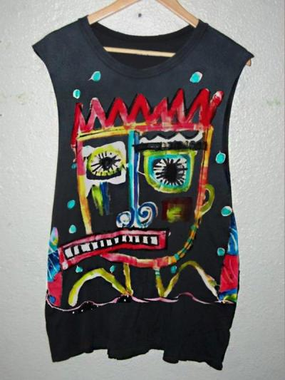 Women's Casual Sleeveless Crew Neck Abstract Printed Tops