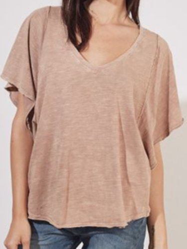 Nude Cotton Casual Shirts & Tops