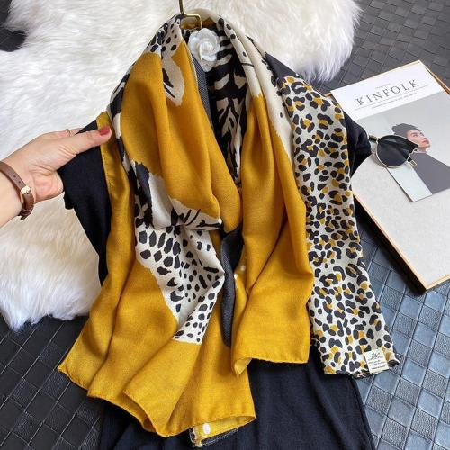 Animal Leopard Print Women Scarf Cotton Spring Winter Warm Scarves Shawl