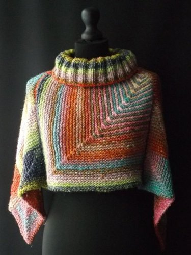 Color Turtleneck Color-Block Holiday  shawl Tops