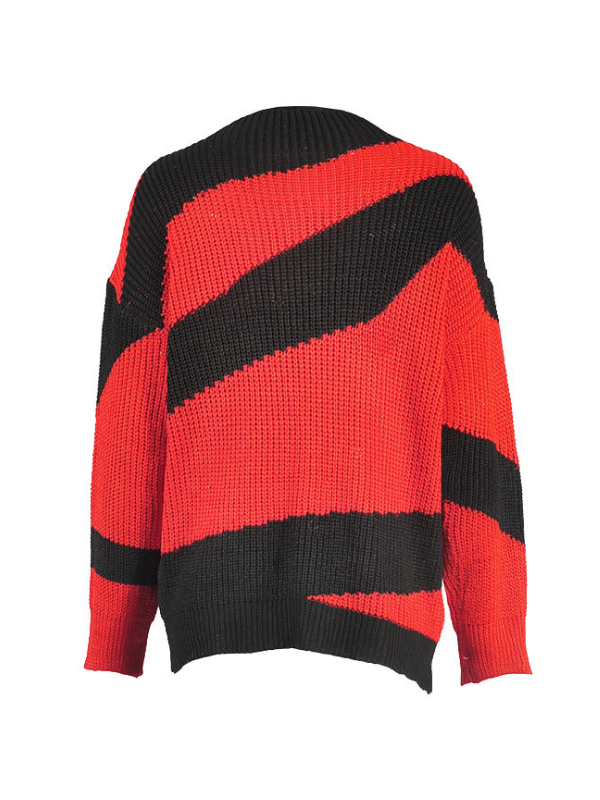 Casual Round Neck Long Sleeve Knitted Sweaters