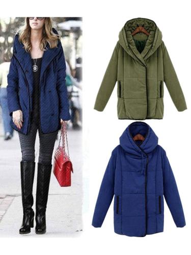 Casual Turtleneck Zipper-Up Winter Coat