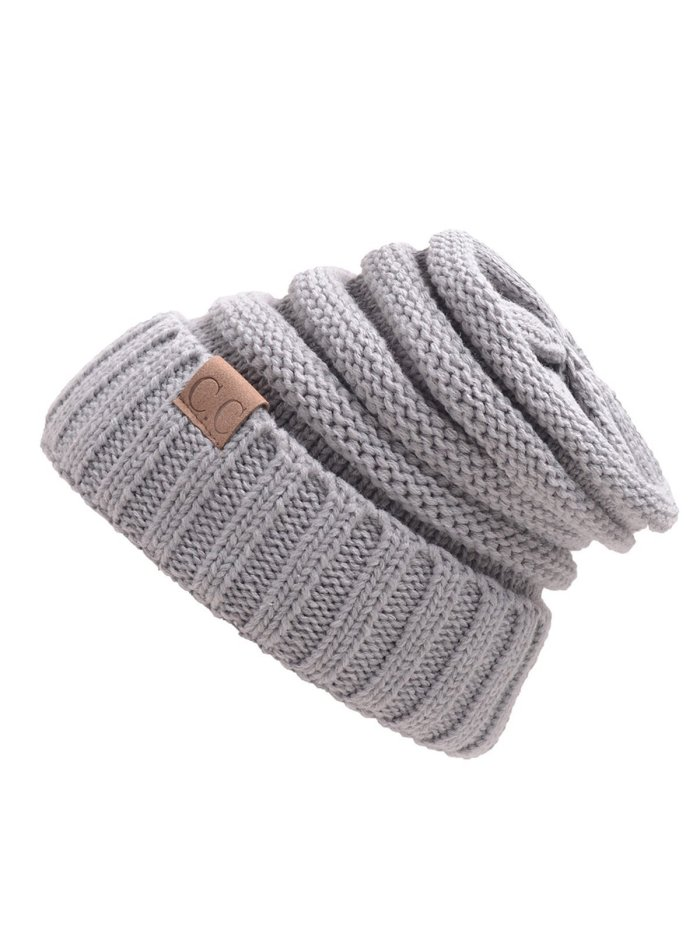 Patch Casual Knit Cap