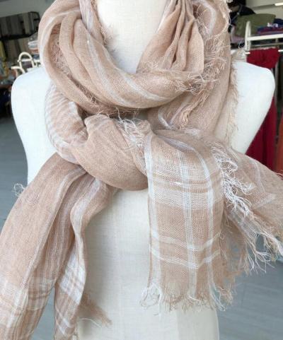 High Quality 100% Linen Scarf Fashion Brand Plaid Scarf Spring Autumn Warm Soft Shawls Cotton Tassel Scarves