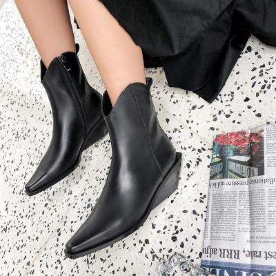 Cowhide Leather Date Boots