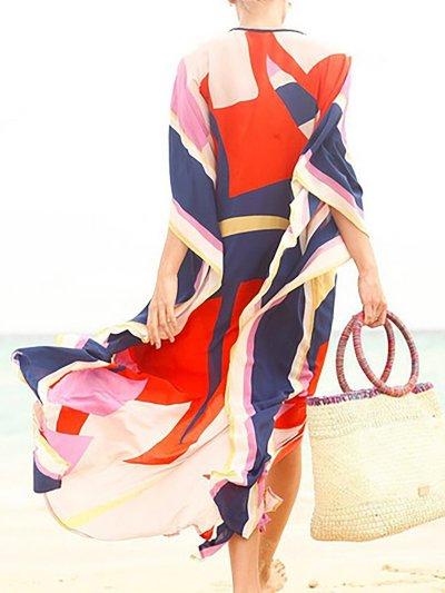 Crew Neck Red Women Summer Dress Daily Basic Solid Dress