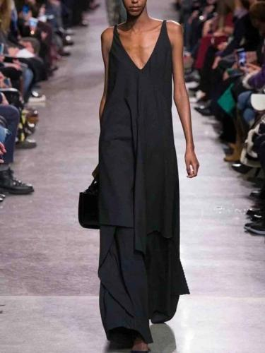 Black V Neck Cocktail Dresses