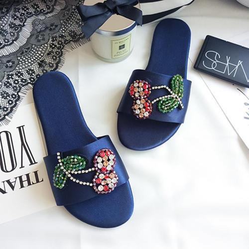 Women Shiny Single Strap Slippers Casual Peep Toe Shoes