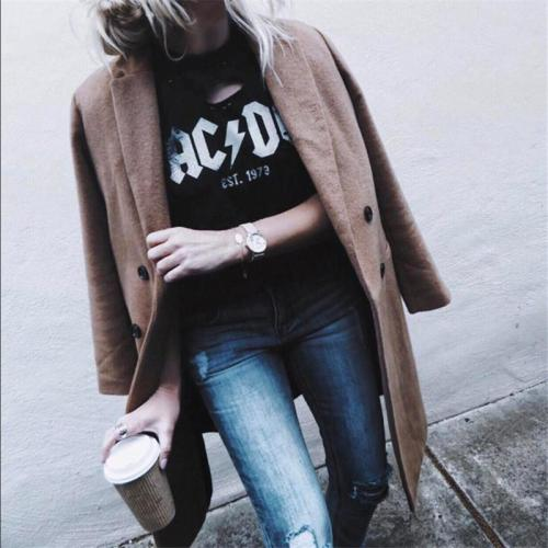 Medium And Long Double-Breasted Cardigan Coat