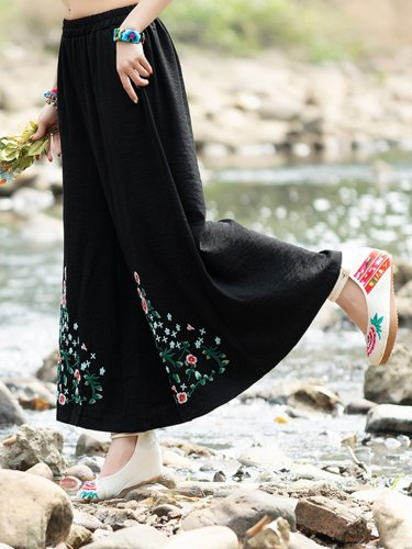 Casual Wide Leg Pants With Pockets