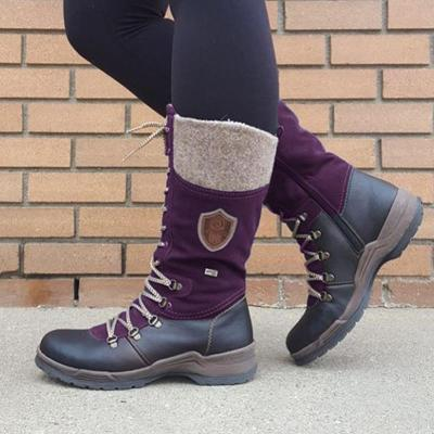 Women's casual lace-up daily flat boots