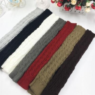 Women Winter Arm Warmers Fingerless Long Gloves Solid Warm Mittens Elbow Knitted Sleeves Cycling Glove