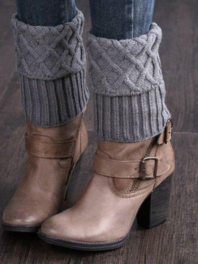 Knitted Short Ruffled Plain Ankle Sock