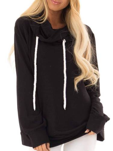Casual Hoodie Cotton-Blend Shirts & Tops