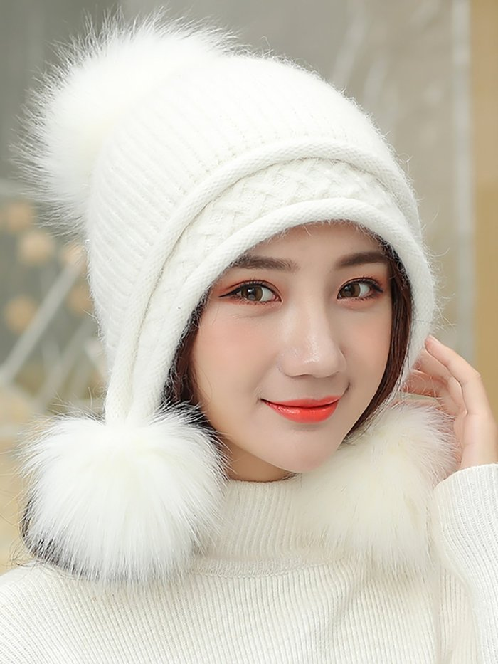 Velvet Thick Warm Knit   Christmas Hats