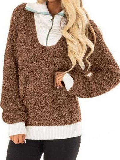 Paneled Long Sleeve Cashmere Sweaters