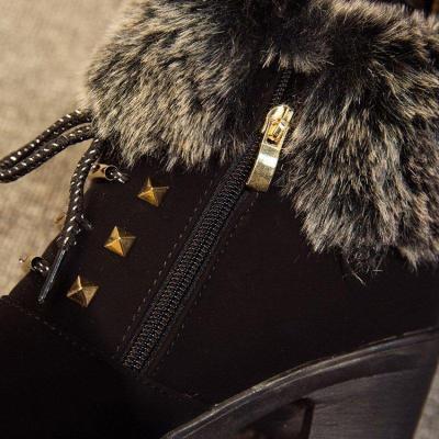 Womens Comfortable Lightweight Non-slip Female Casual Trend Martin Boots