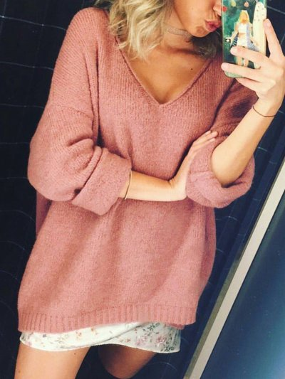Casual cotton loose sweater
