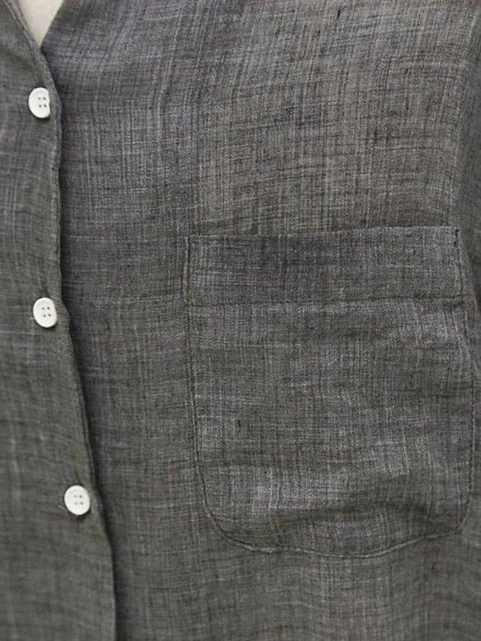 Casual Long Sleeve Loose Linen Blouse