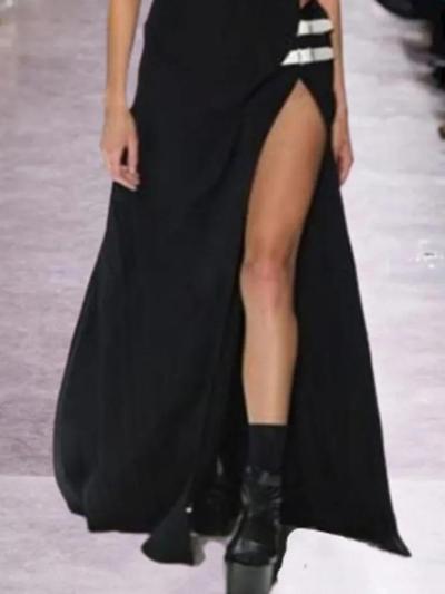 Vintage Sleeveless Plain Statement Plus Size Casual Dresses