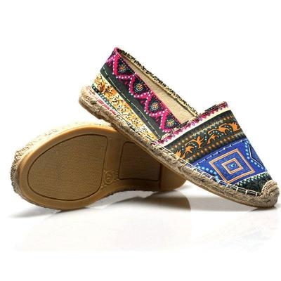 Color Stitching flat Loafers