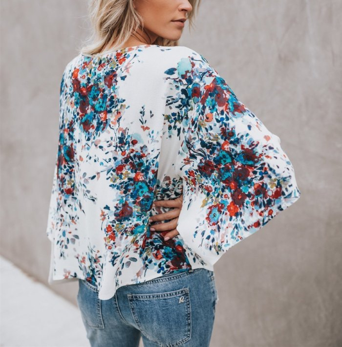 Digital Printing Large Size Chiffon Jacket