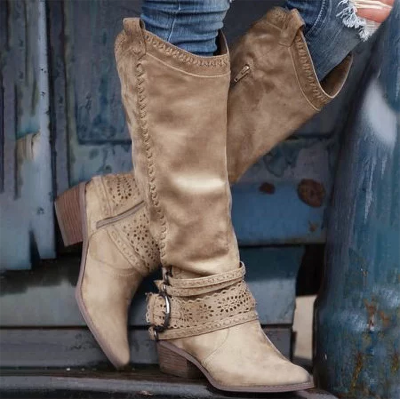 Daily Hollow-Out Spring/fall Boots