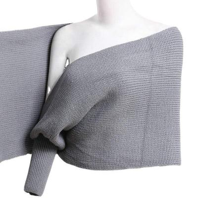 2020 Spring and Summer New Knitwear Women's Fashion All-match Irregular Shawl Sweater Pullover
