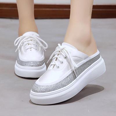 Women PU Platform Slippers Casual Comfort Shoes
