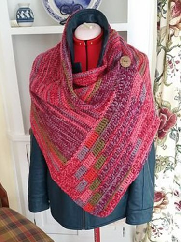 Red-Pink Casual Ombre/tie-Dye Scarves & Shawls