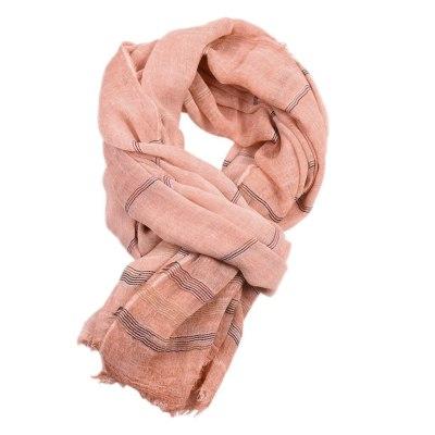 Fashion Scarf Women Unisex Winter Striped Tassel Scarf Soft Winter Scarves
