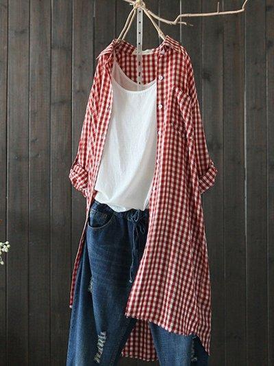 Long Sleeve Casual Shirt Collar Tops