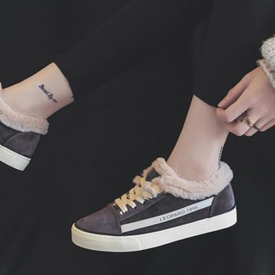 Women Casual Flocking Sneakers Athletic Shoes Artificial Suede Booties