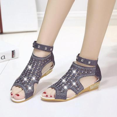 Women's Wedge Sandals Fashion Fish Mouth Hollow Summer Shoes Sandals