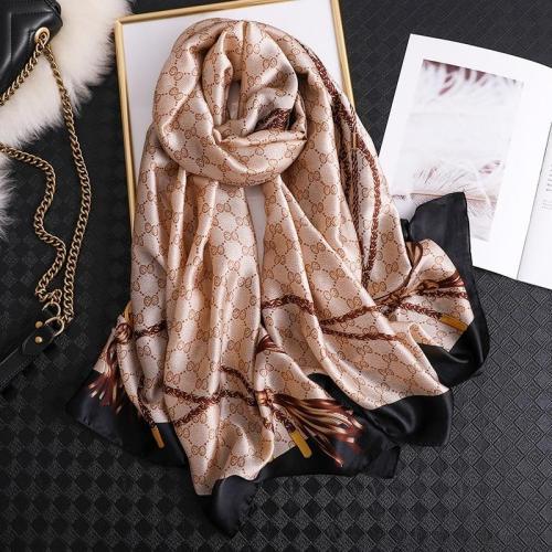 Women Silk Scarf Beach Hijab Shawls