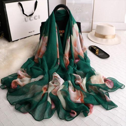 silk scarf for women shawls beach stoles foulard