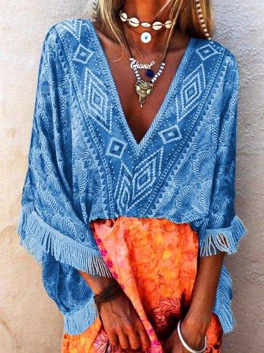 Women's V Neck Boho Holiday Dresses