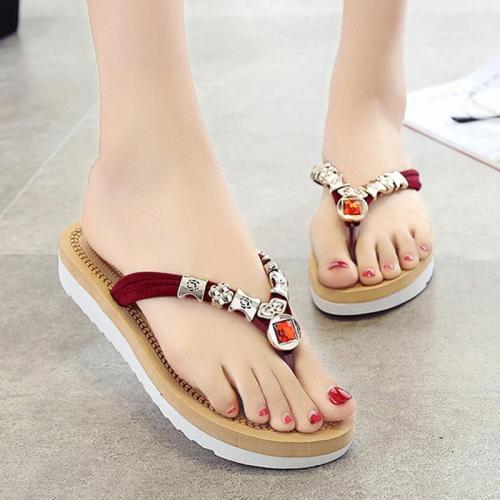 Women Flip flops Slippers  Round Toe Style