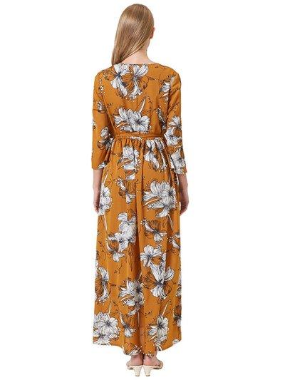 Yellow Cotton-Blend Dresses